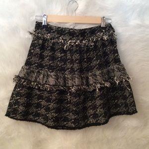 ZARA fringe tiered skirt.